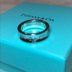 Tiffany & Co. 1837 sterling silver ring Size 6